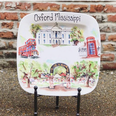 Hand Painted- Oxford Mississippi Platter (KB Exclusive)