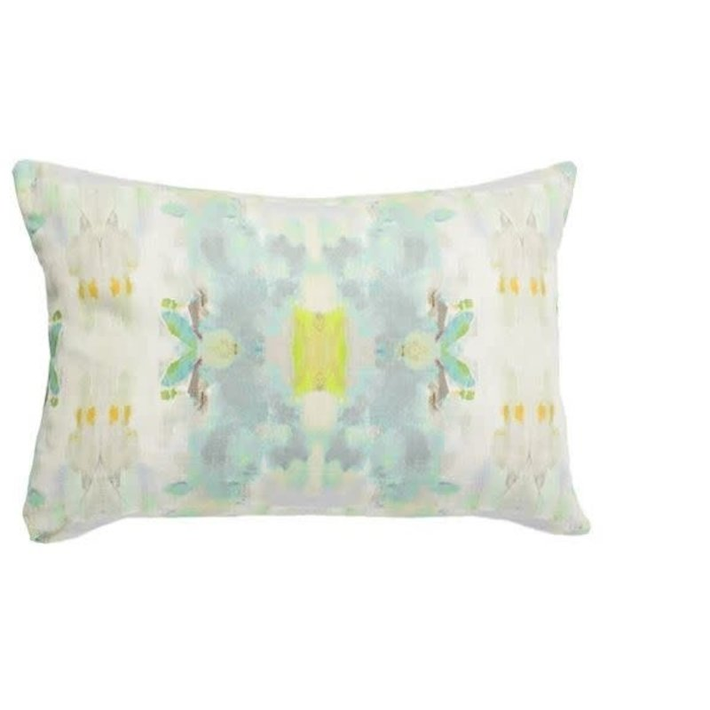 Katherine Beck Coral bay green outdoor pillow- (14''x20'')