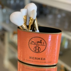 Hermes PETITE (4.5'' tall) Orange Makeup Brush Holder-
