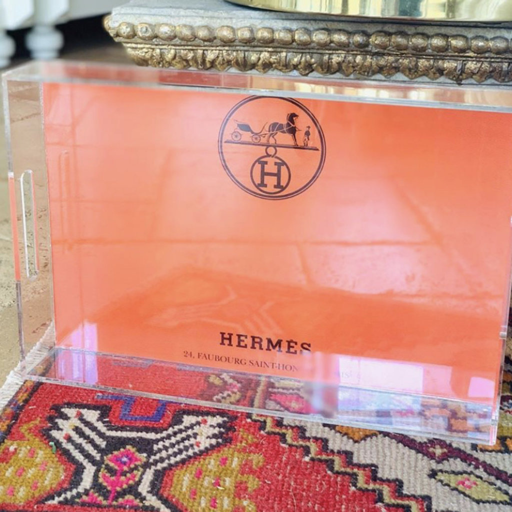 Hermes (11x18'') Acrylic Lucite Tray -