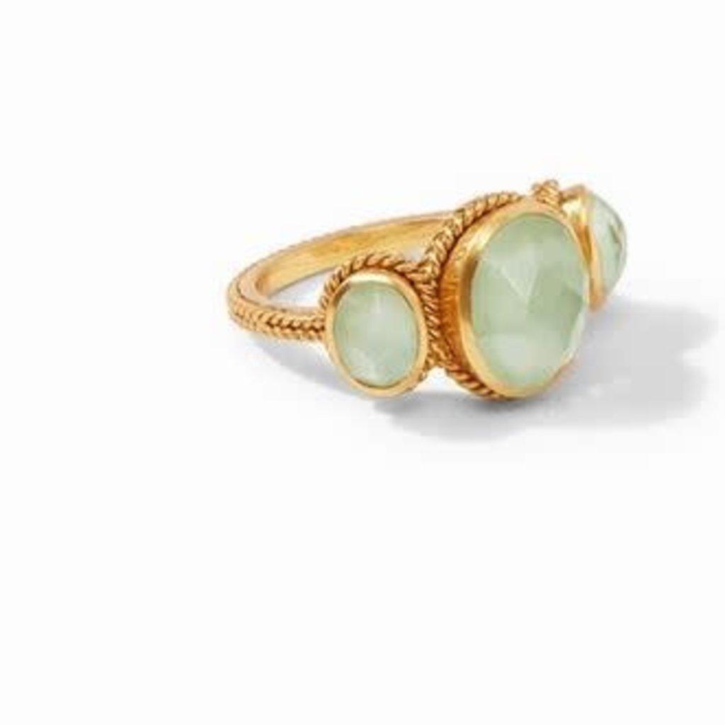 Calypso Ring Gold Iridescent Seaglass Green Size 7