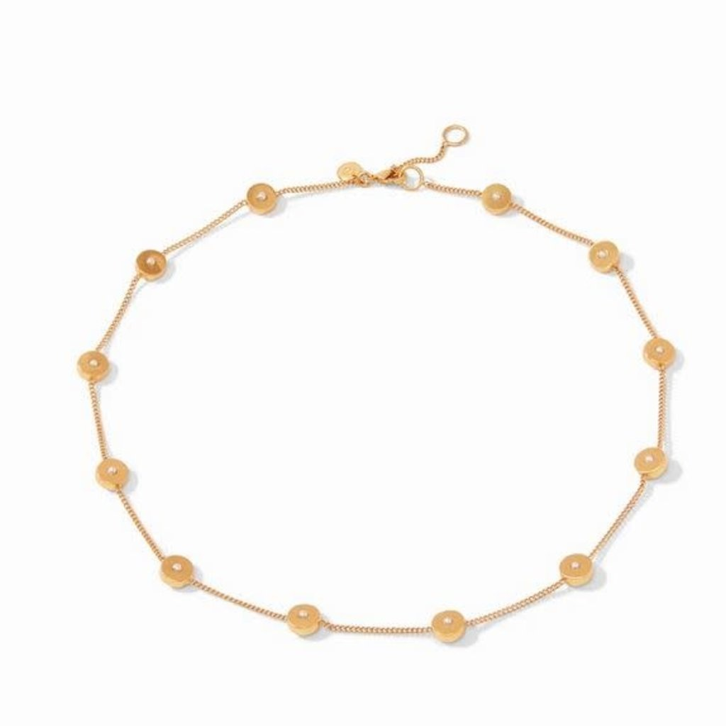 Poppy Delicate Station Necklace Gold Pearl
