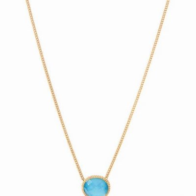 Verona Solitaire Necklace Gold Pearl