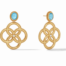 Chloe Earring Gold Iridescent Pacific Blue