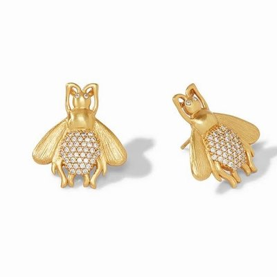 Bee Luxe Earring Gold Cz