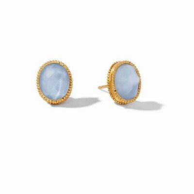 Verona Stud Gold Iridescent Ice Blue