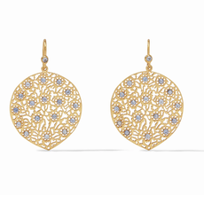 Peacock Earring Gold Chalcedony Blue