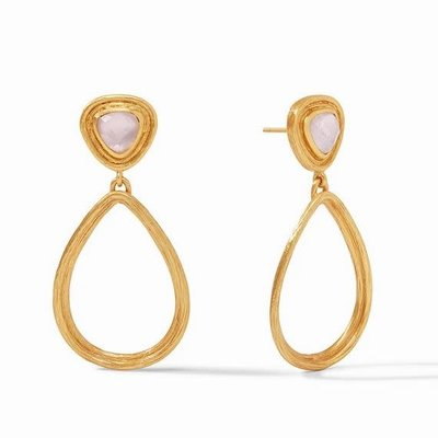Barcelona Statement Earring Gold Iridescent Rose