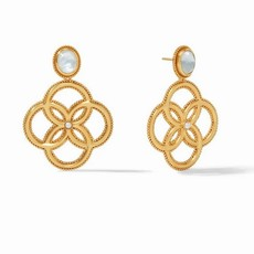 Chloe Earring Gold Iridescent Clear Crystal