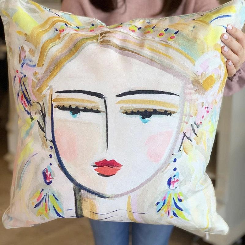 She Is Fierce Blonde Pillow