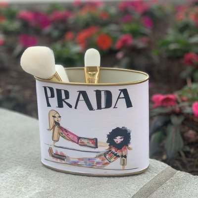 Prada Girls SMALL (5.5'' tall) Makeup Brush Holder-