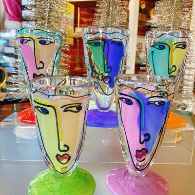 Painted juice glasses - Painted Juice glasses