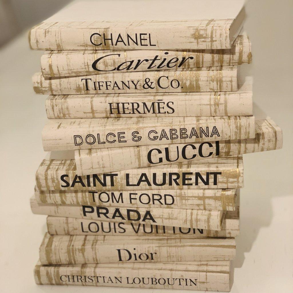 Christian Louboutin gold Minature Boutique Books