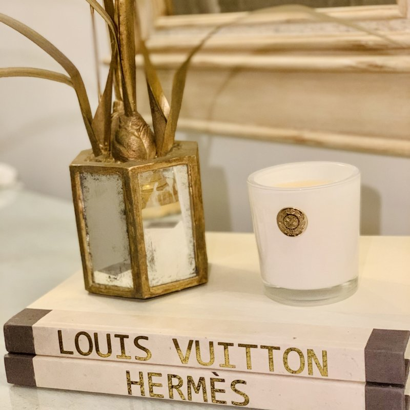 LV Custom Gold/Cream Designer Book (10''x13'')