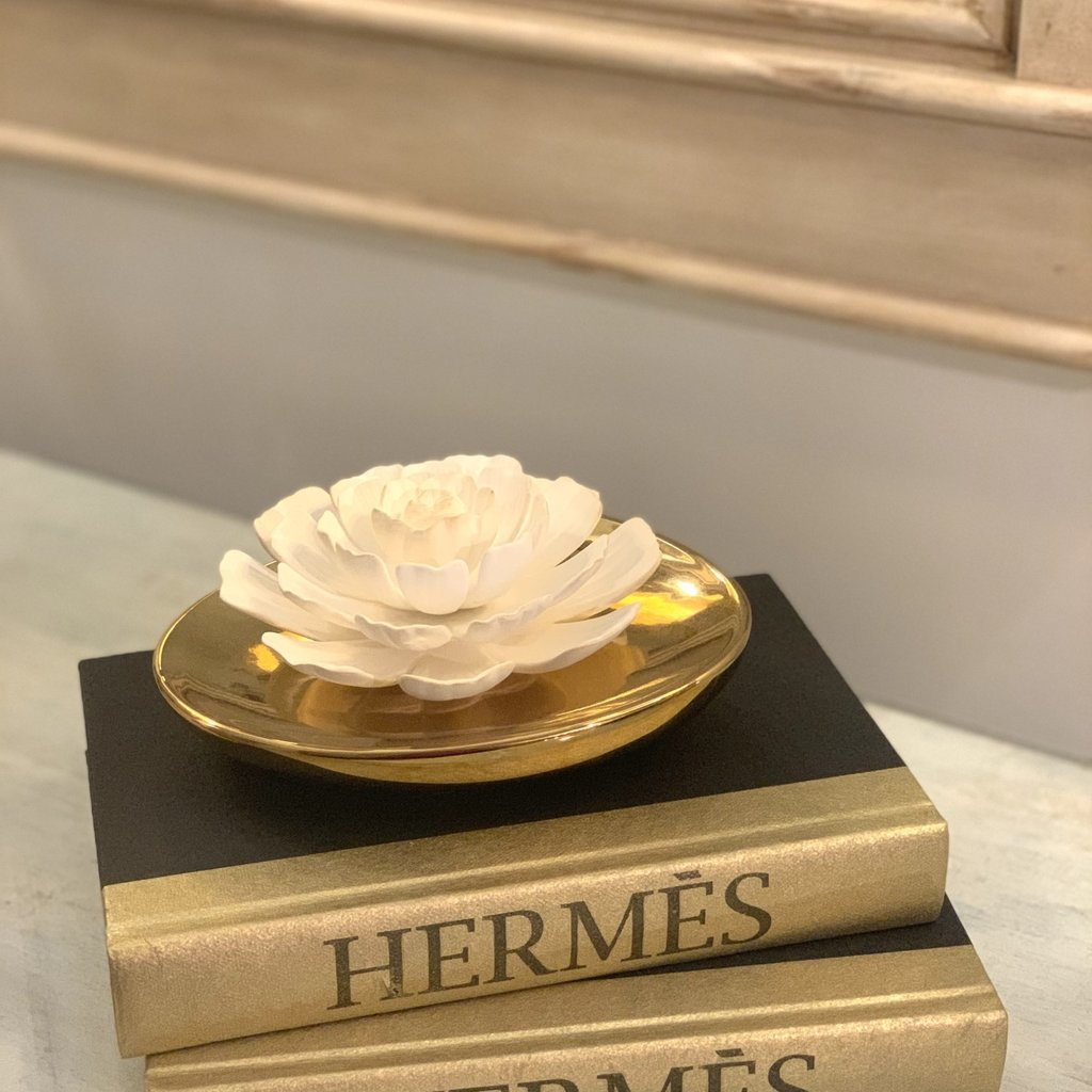 Hermes All Gold Metallic Book