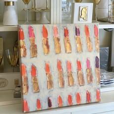 Chanel Neutral Lipstick Canvas (18x18)