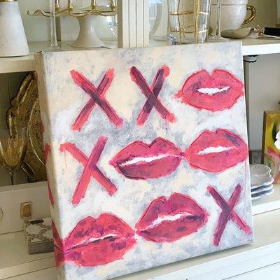 Pink XO Canvas (18x18)