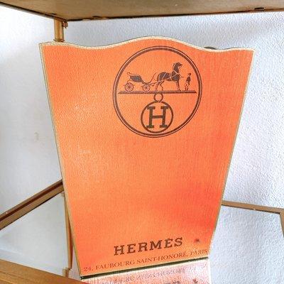 Hermes Wastepaper Basket (Orange)-