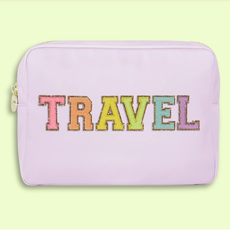 """Travel"" Lilac Large Pouch"