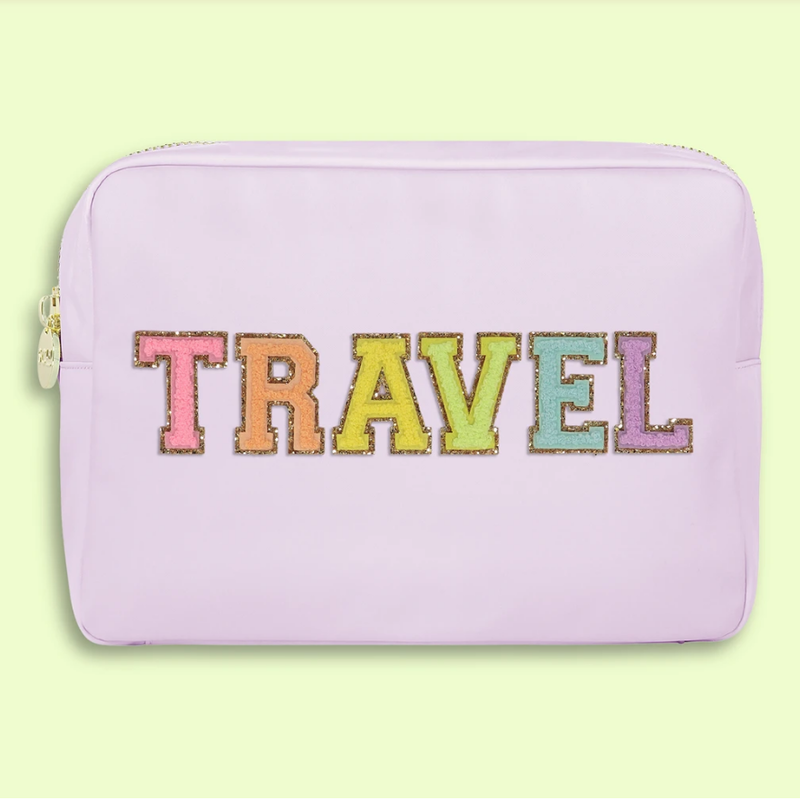 """""""Travel"""" Lilac Large Pouch"""