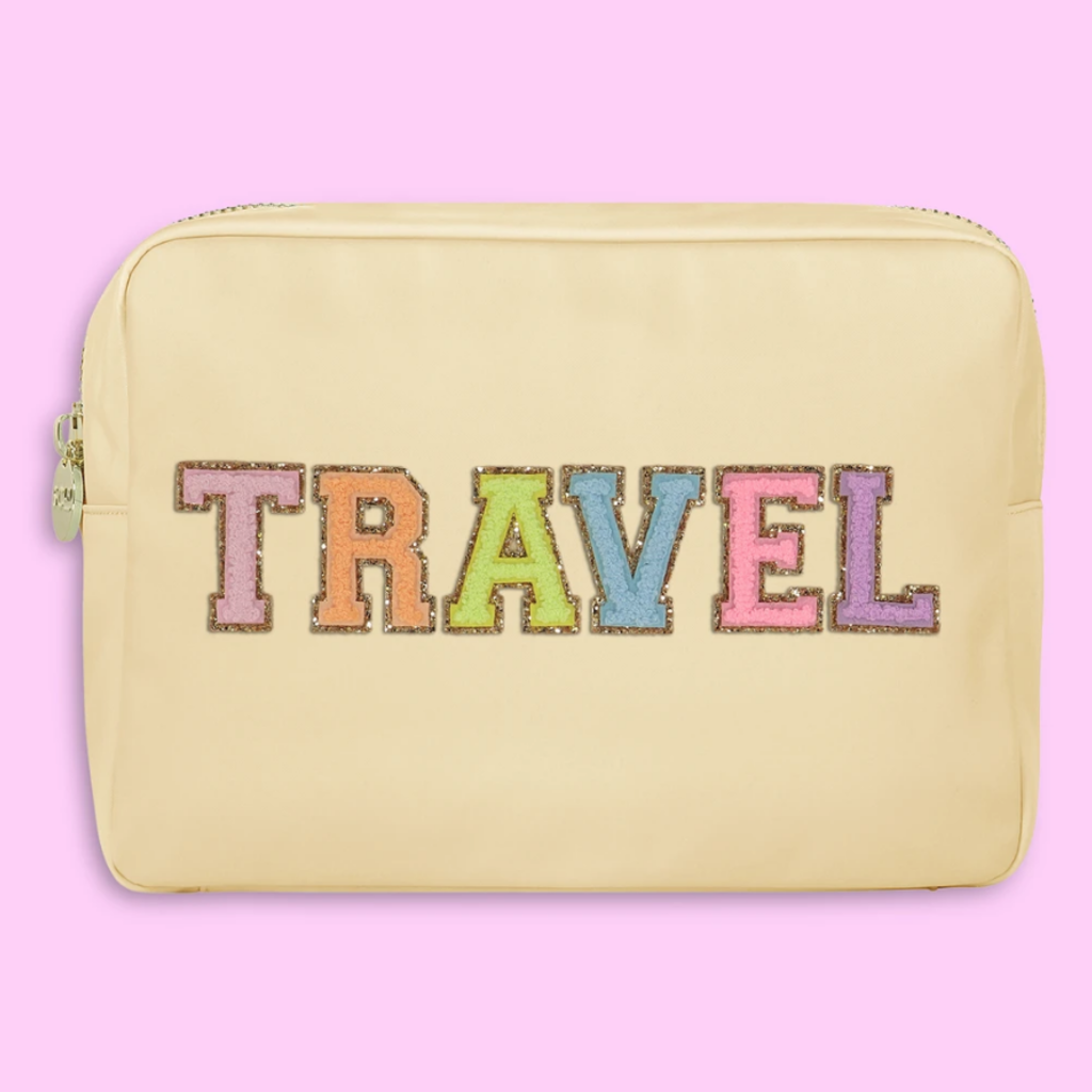 """""""Travel"""" Large Sand Pouch"""