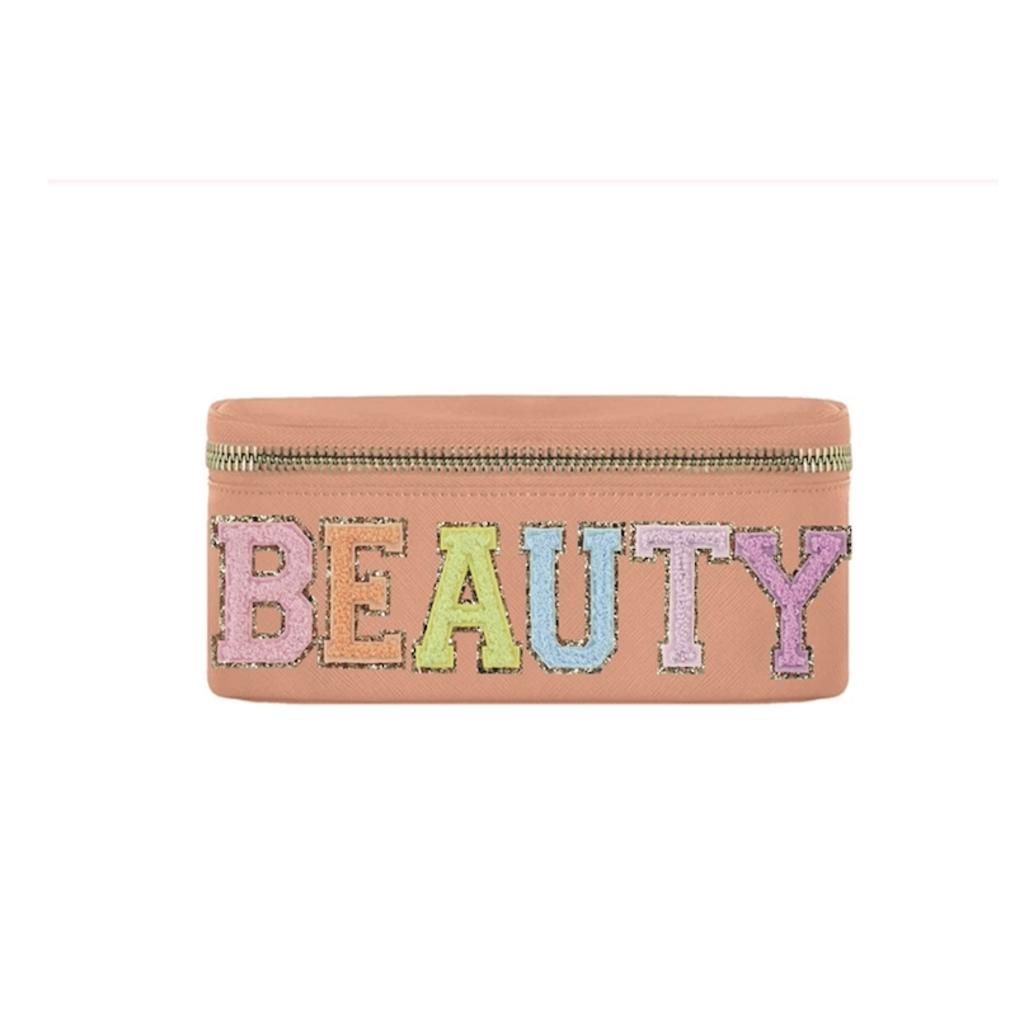 """Beauty""  Peach Makeup Bag"