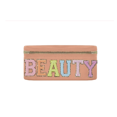 """Beauty""  Peach Makeup Bag"