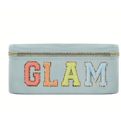 """Glam"" Cotton Candy Makeup Bag"