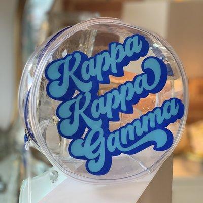 KKG Round Vinyl Clear Cosmetic Bag