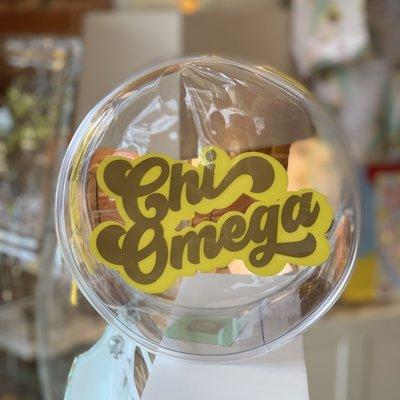 CHI O Round Vinyl Clear Cosmetic Bag