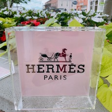 Hermes Light Pink/ Blush (8x8) Lucite Tray-