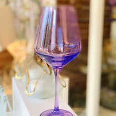 Lavender Stemmed Wine Glass