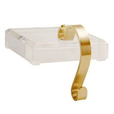 Acrylic / Brass Stocking Holder -