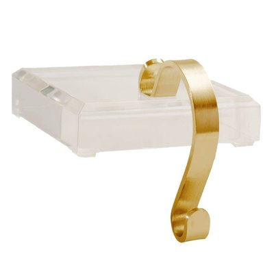 Acrylic / Brass Stocking Holder -