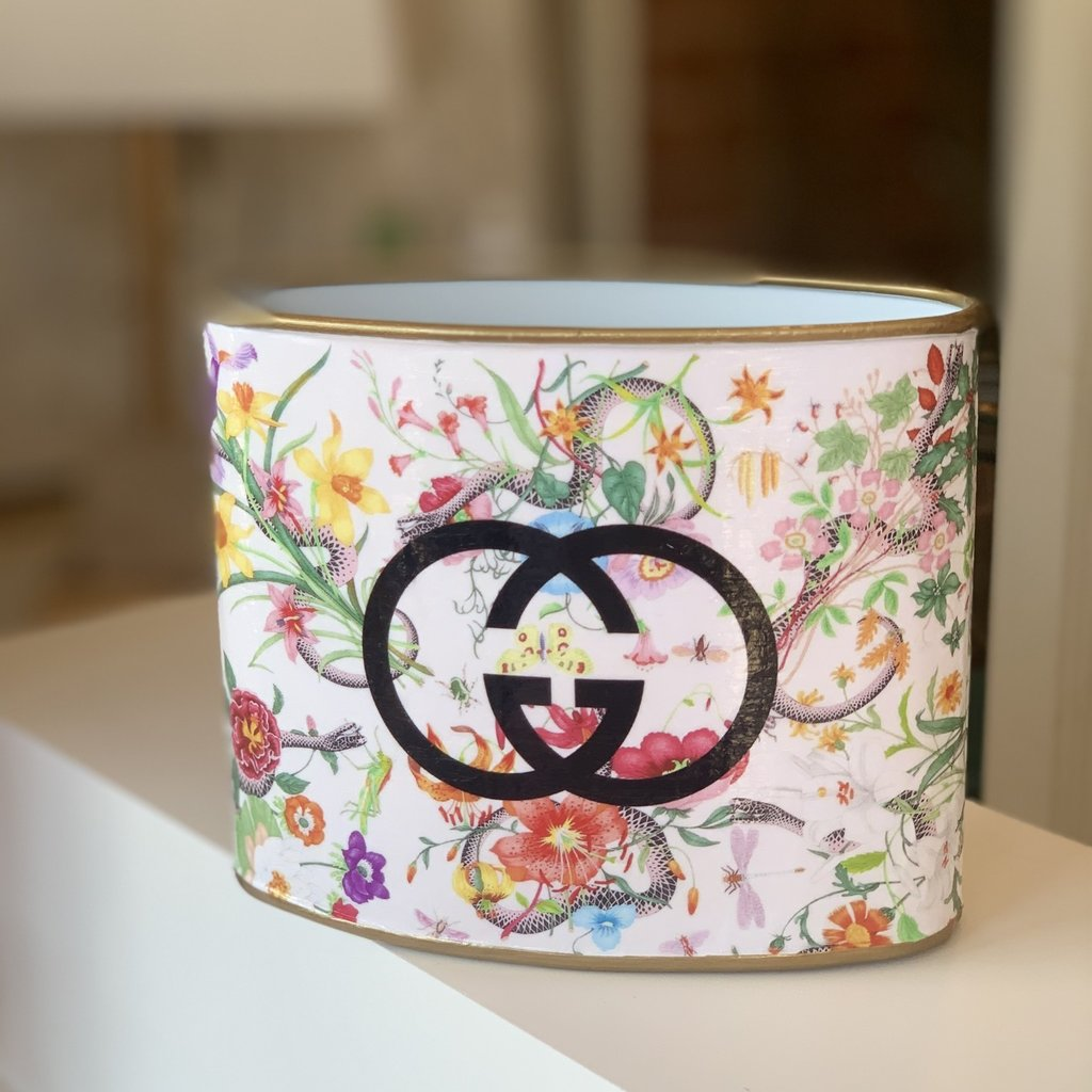 Gucci Floral SMALL (5.5'' tall) Makeup Brush Holder-