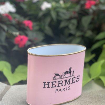 Hermes SMALL Light Pink/ Blush (5.5'' tall) Makeup Brush Holder-