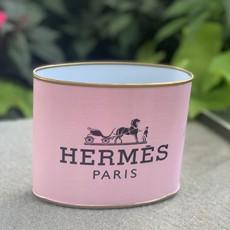 Hermes PETITE (4.5'' tall) Light Pink/ Blush Makeup Brush Holder-