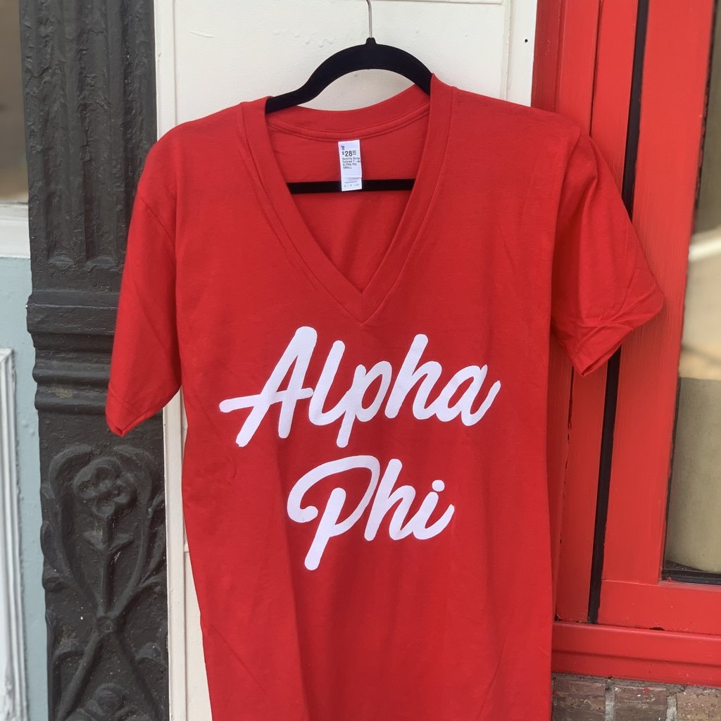 Sorority Script Colored T-shirt