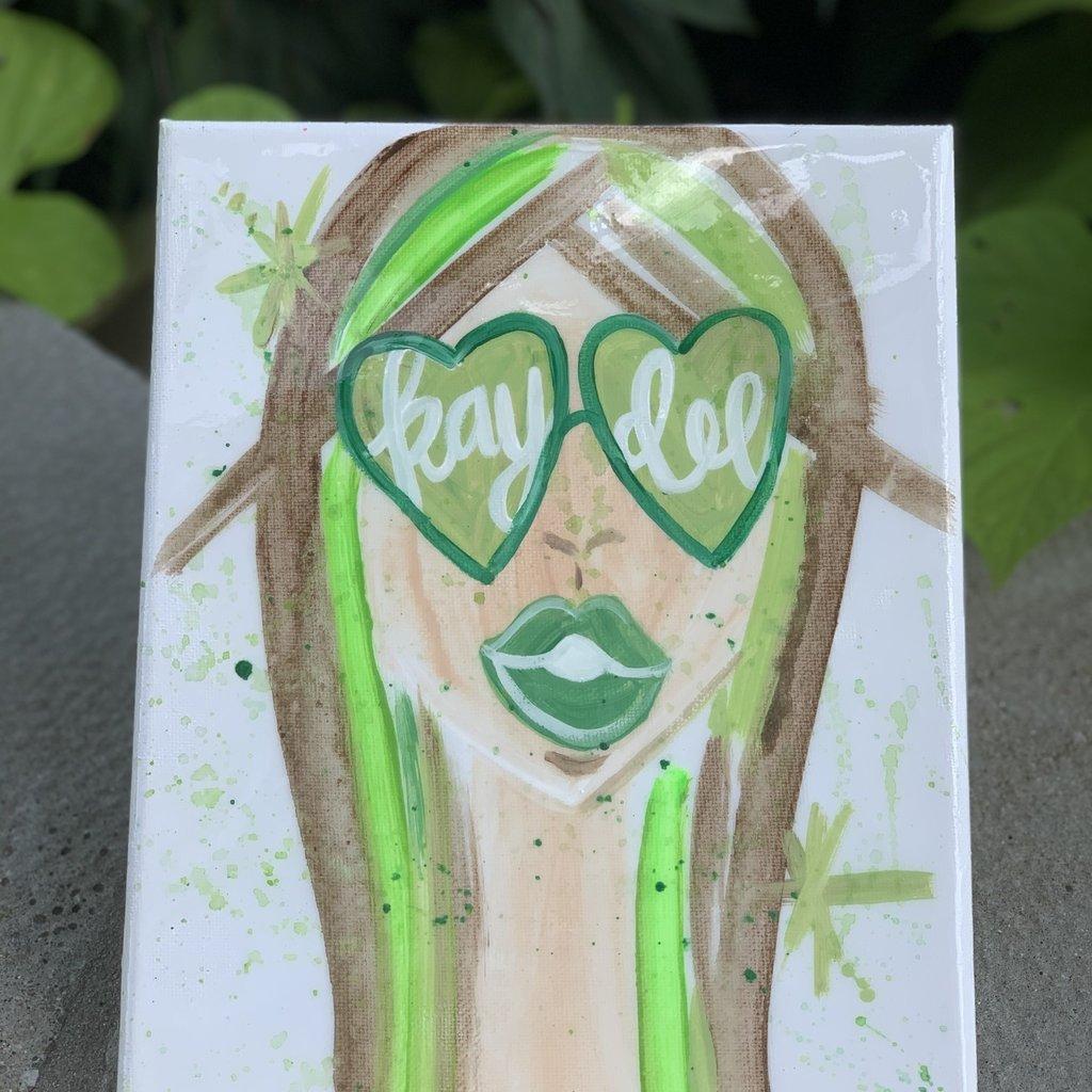 SUNGLASS GIRL SORORITY ART