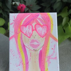 SUNGLASS GIRL SORORITY ART