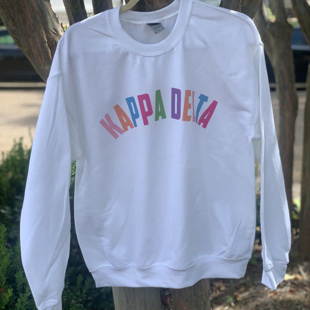 Sorority White Sweatshirt