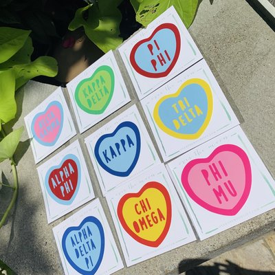 Sorority Heart Decal