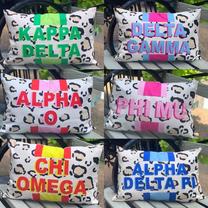 Sorority Cheetah Pillow