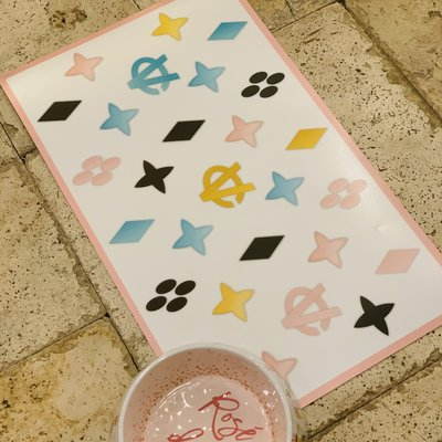 White Chewy Vuitton Placemat