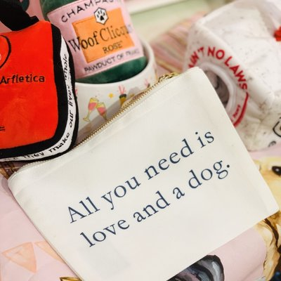 All you need is LOVE.. and a dog/ FLAT ZIP