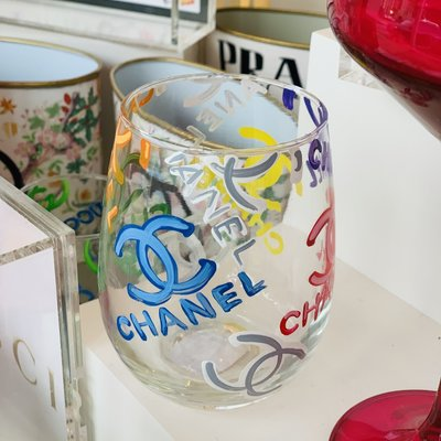 Chanel MULTI COLOR Hand Painted Glasses