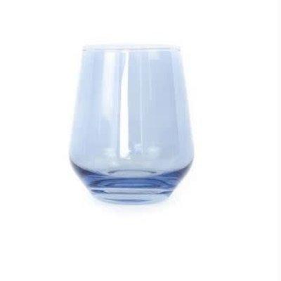 Cobalt Blue Stemless Wine Glass