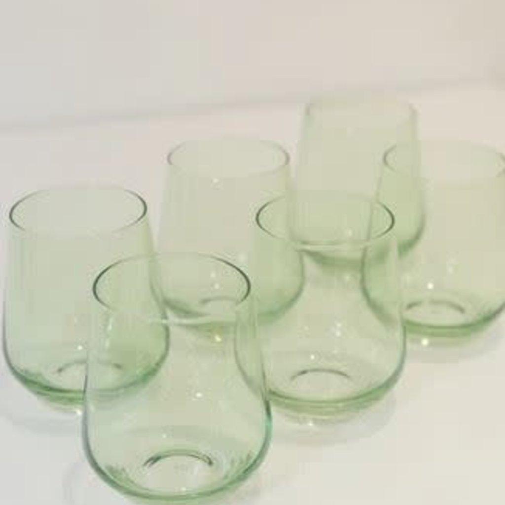 Mint Green Stemless Wine Glass