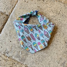 Ice Cream Dog Bandana- Medium