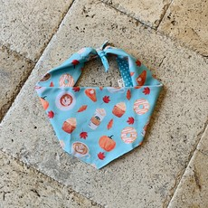 Pumpkin Spice Dog Bandana - Large